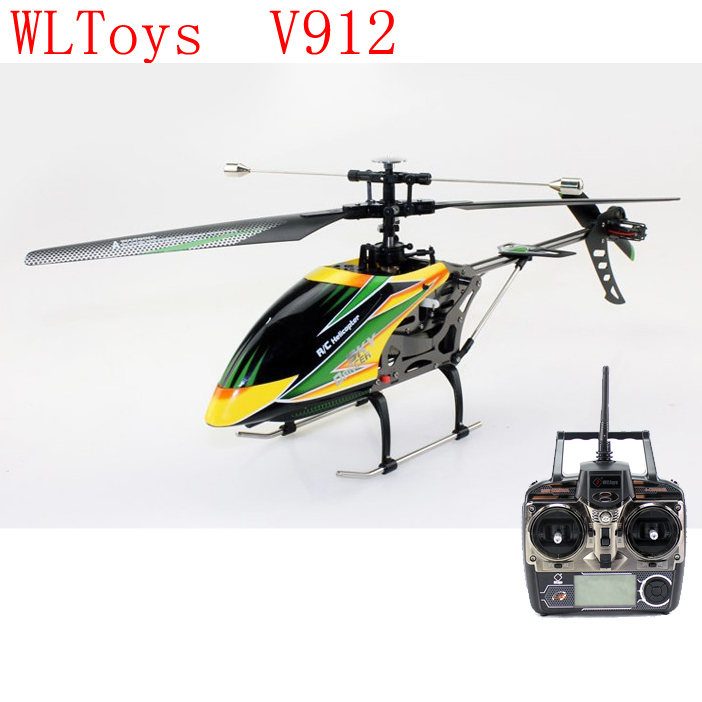 WLToys V912 rc helicopter remote control helicopter rc drone 4 Ch 2.4GH Brush Large Single Blades Remote Control(China (Mainland))