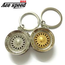 Ace speed-Aluminum new BBS Wheel Rim Keychain Creative Auto Part Car Keyring Key Chain Ring Keyfob Holder