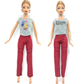 NK  Original Doll Casual Clothes Handmade Jeans Pants Fashion Outfit Clothes For Barbie Doll Child' Toys Best Gifts For Girl