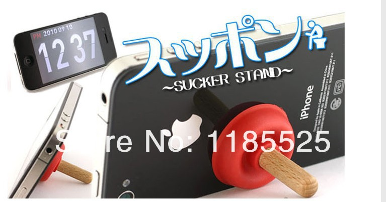 New Style Plunger Rubber Sucker Stand Case For Cell aPhone iPhone iPod samsung MP3 Player 9 Colours(China (Mainland))