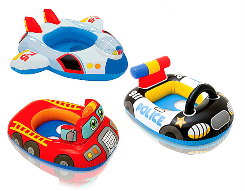 PDOVE Kids Baby swim rings Toddler Swimming Pool Swim Seat Float Boat Ring With Wheel and Horn(China (Mainland))