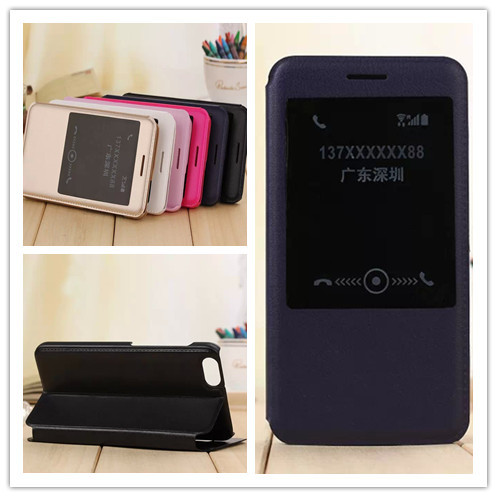 Open Window Flip Genuine Leather Case Huawei Honor 4X Stand Protective Cover sleep wake fuction huawei 4x - Tablet pc & Smart phone store