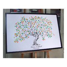 Personalize Fingerprint Wedding Tree Wedding Guest Book Tree Unique Signature Guestbook Alternative Vintage Wedding Decorations(China (Mainland))