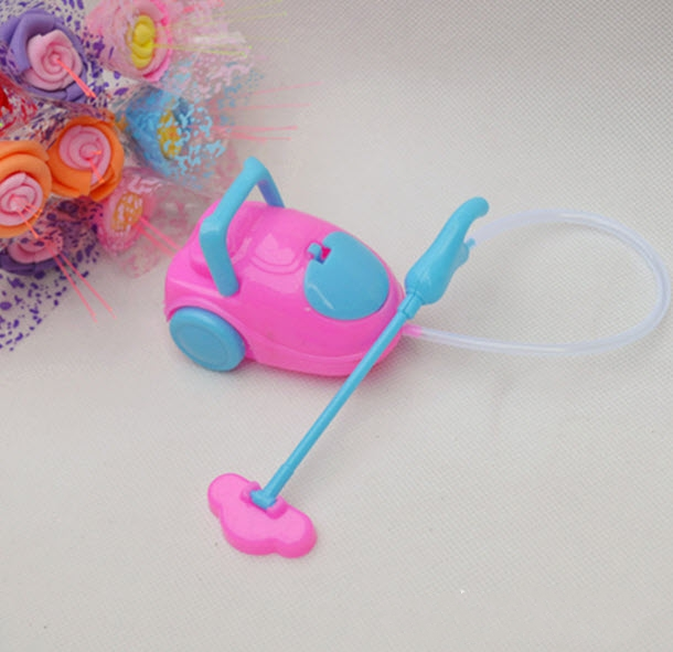 Youngsters Toy Dollhouse Mini Vacuum Cleaner For Barbie Dolls For Kelly Dolls Kids Child Lady Select Furnishings Doll Equipment