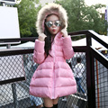 Girls Jackets Coats 2016 New Arrival Fashion Fur Hooded Thick Warm Down Park Children s Clothing