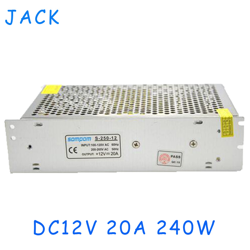 DC12V 20A 240W Switching Power Supply Adapter Transformers AC 100V -240V to DC12V Converter for LED Strip light 3D Print Driver<br><br>Aliexpress