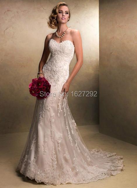 Белый / слоновая кость на складе свадьба платье сша размер 4 - 22 W аппликации кружево свадьба платье Vestidos Novia свадьба платье платья невесты