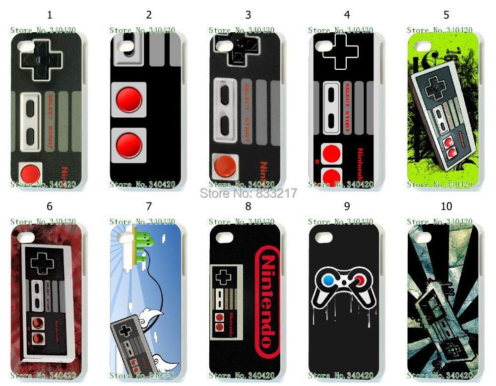 Hot 10pcs/lots wholesale NES hard white case cover for iphone 4 4G 4S +free shipping(China (Mainland))