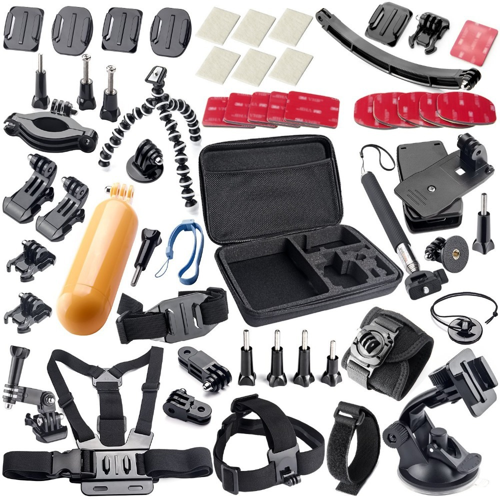 Free Shipping Gopro Accessories kit for gopro hero 4 SJCAM SJ4000 SJ5000 xiaomi yi accessories sjcam Accessories 21A(China (Mainland))