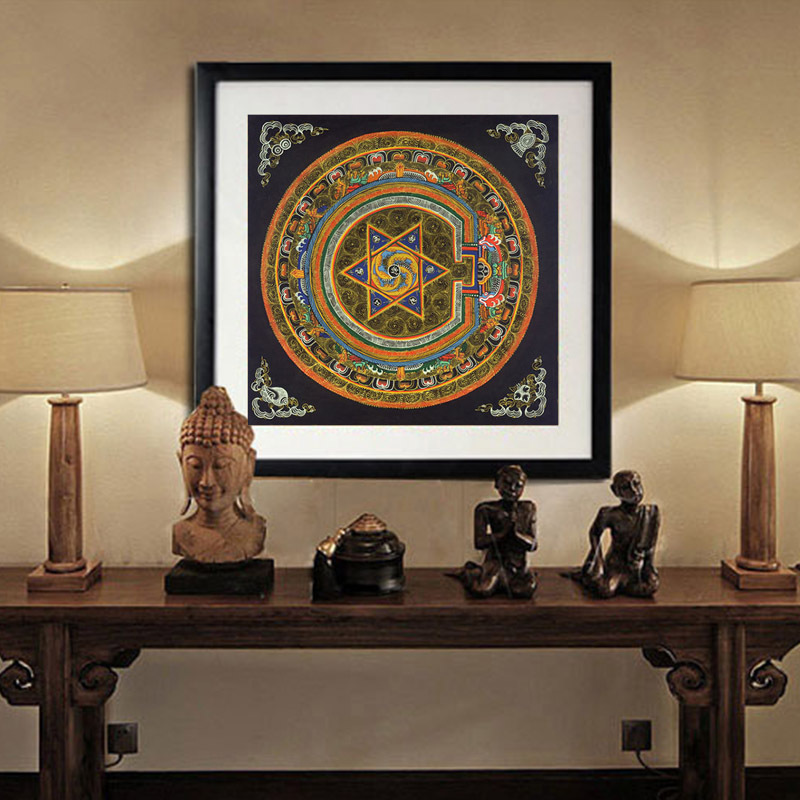 nepal buddhist shrine mandala faith buddha oil canvas art