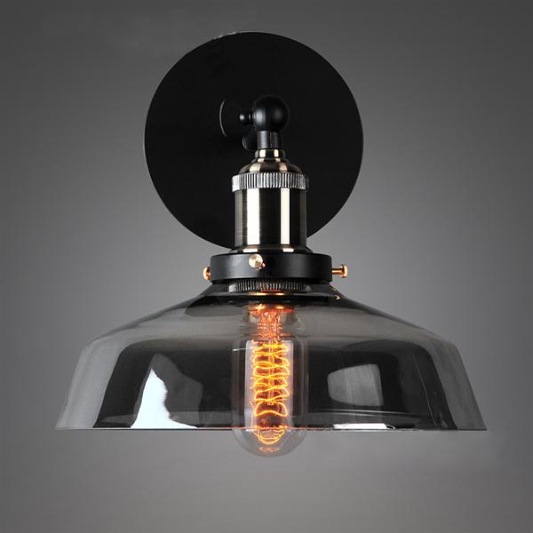 Фотография Modern Led Wall Lights For Living Room Luminarias Clear Smok Gray Wall Lamp Indoor Decoration 23CM AC85-265V Led Bathroom Lamp