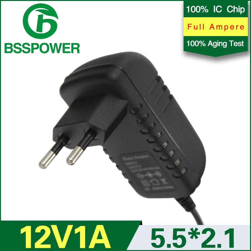 EU plug universal ac dc 12v 1a 1000mA power supply adapter 5.5*2.1mm STB wall charger(China (Mainland))