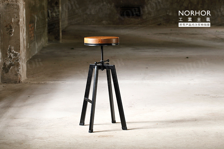 The Nordic expression Vintage French industrial design wrought iron chair bar stool lift rotation<br><br>Aliexpress