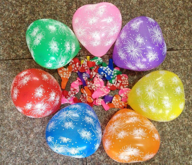 Free shipping 100pcs/lot 12inch wedding Party Decoration Ballons heart shape helium Balloon flower balloon(China (Mainland))