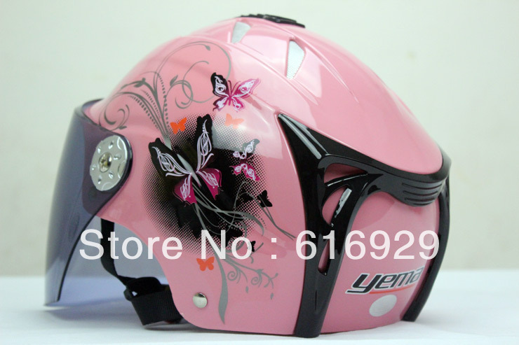 UNIVERSAL Lovely Women Half Face HELMET SUMMER HELMET Dirt Bike Motorcycle Helmet for Summer ELECTRIC BICYCLE HELMET free ship(China (Mainland))