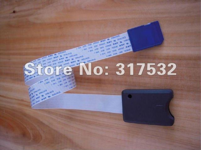 wholesale SD SDHC card extension cable card reader for car GPS and car DVR support 32GB 20pcs/lot Free shipping