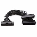 24Pin 20 4pin Dual PSU ATX Power Supply Adaptor Cable Connector for Mining 30cm