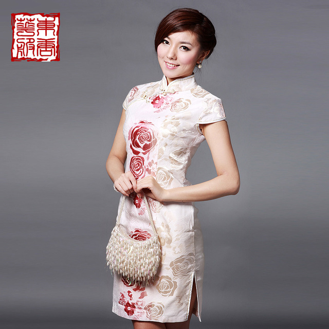 Cheongsam 2013 summer improved cheongsam chinese style vintage comfortable material - jade