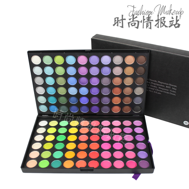 New arrival 120 color eyeshadow plate smoked makeup pearl dull eye shadow plate 120 5