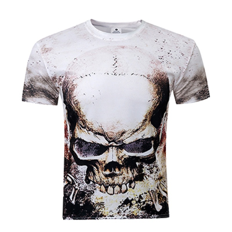 New Skull Printed 3D T Shirts Game Of Thrones Men Shirts O Neck Top Tees Casual Wolf Clothing Novelty Style T-shirts(China (Mainland))