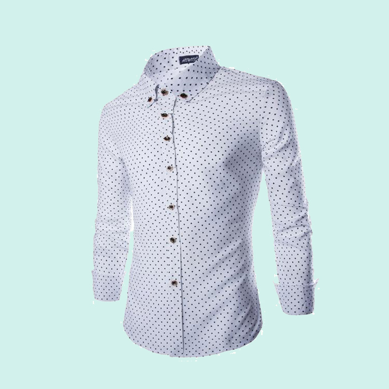 2015 hollistic brand cotton long sleeve shirt fashion cultivate one's morality pentagram printed shirts  -  Famous brands world store