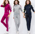 Survetement Femme Marque 2016 New Embroidery Hoodies Women Cotton Casual Tracksuit Sportsuit Feminino Two Piece Set