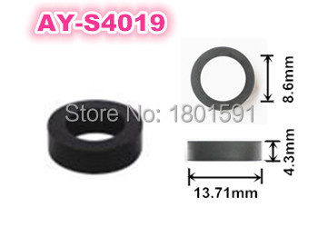 wholesale good quality 100pcs rubber seals 13.71*4.3*8.6mm auto parts fuel injector viton o rings (AY-S4019)