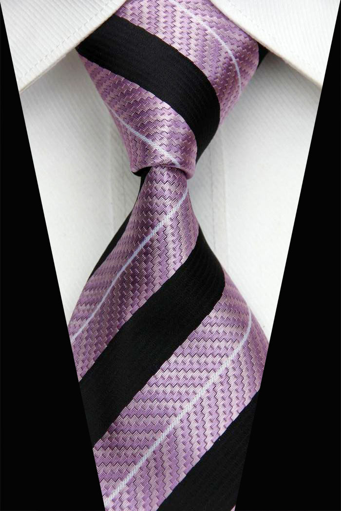 NT0441 9 5cm Width New Classic Business Casual Knitted Ties Luxury Gravata Gray Checks Man s
