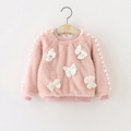 Autumn Winter Girl s Coat Faux Fur Girl Clothes Fashion Bow Children Outfits Girls Jackets Kid