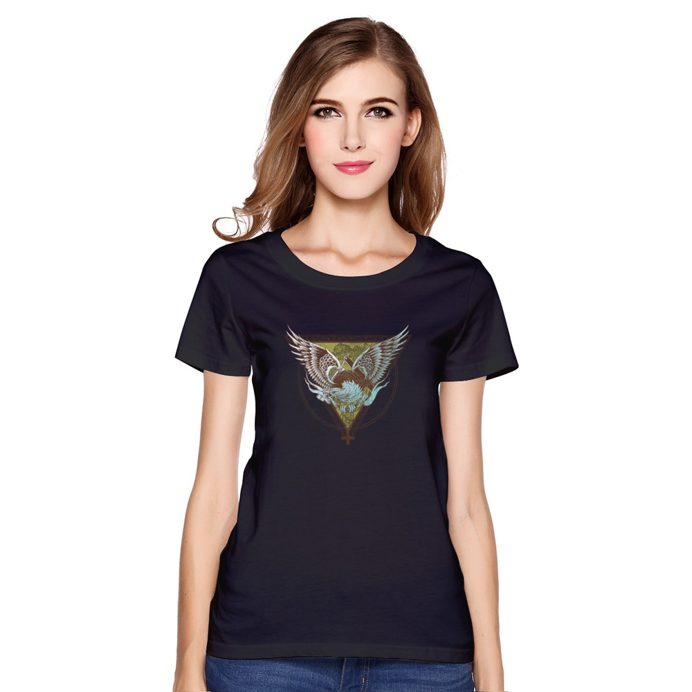 Design your own t-shirt for cheap price - Cheap Price American Eagle Girl T Shirt O Neck Stylish Women T Shirts