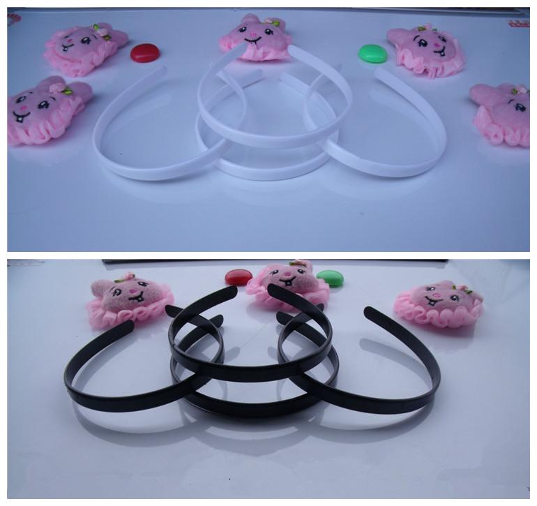 Wholesale 50pcs/lot DIY 12mm plastic plain headband white black DIY Craft tools Jewelry Hair Accessories DIY868(China (Mainland))