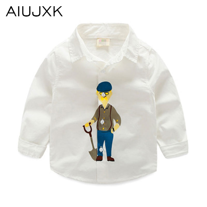 Hot Cartoon Boy Collar Shirt The Spring and Autumn Cozy School Boys Blouse Children'S Cotton Boys Casual Shirt OUMU69(China (Mainland))
