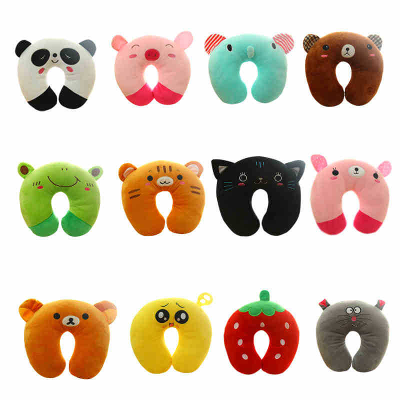 Animal Shaped Massage Pillow : Aliexpress.com : Buy Short Plush Cute Cartoon Animal U Shaped Pillow For Kids Massage Neck ...