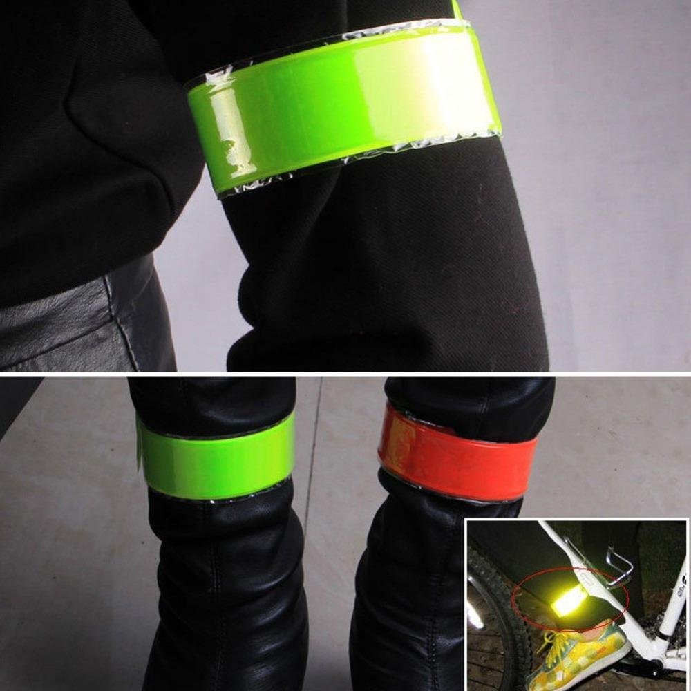 Новый светоотражающие полосы предупреждение велосипед безопасности велосипедов ног ремешок ремешок велосипедов аксессуары отражающая лента 4 цветов