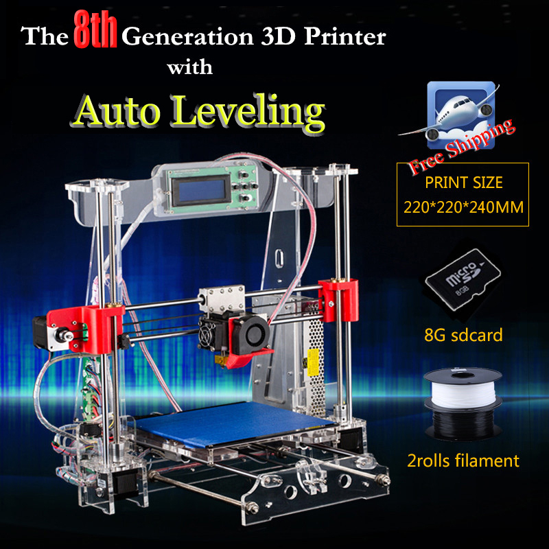 Full Acylic Upgraded Prusa i3 3d Printer DIY kit P802 High Precision Reprap Bowden extruder single machine<br><br>Aliexpress