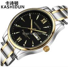 Reloj de pulsera para hombre de cuarzo fabricado completamente en acero Marca KSD Reloj de buceo 200 metros con indicación lumiosa y calendario. Reloj de hombre para vestir K-A1002