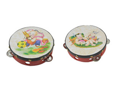 Cute Hand Bell Drums Tambourine Jingles Percussion Musical Instrument Kids Baby Children Toy(China (Mainland))