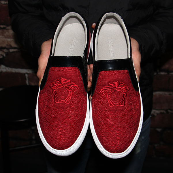 Embroidery shoes fashion shoes personality blue red black British casual shoes flat lazy loafer shoes zapatillas hombre<br><br>Aliexpress