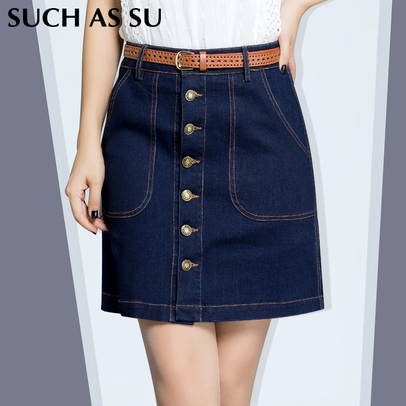 popular plus size denim mini skirt buy cheap plus size