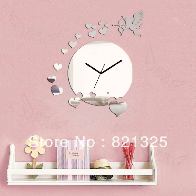 Big Clock Home Decora Wall DIY Crystal Mirror Fashion Clocks Children's Silent Art Unique Gift!! - AL Decoration Co.,LTD store