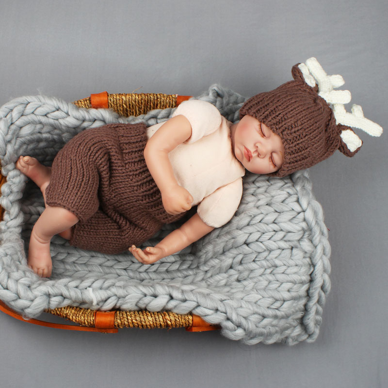 Deer Design Newborn Baby Photography Props Crochet Knit ...