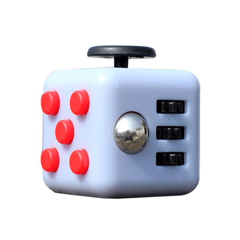 Magic Fidget Cube Vinyl Desk Toy 2017 New Fidget Cube Anti Irritability Toy Magic Cobe Funny Christmas Gift 11 Colors A(China (Mainland))
