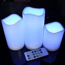 Бросился свечи Velas Decorativas из светодиодов моделирование электронный светильник свечка пластик для дома обстановка украшение