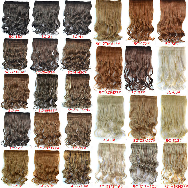 1PC+120G Woman Curly Clip Hair Extension 29 Colors One Piece Full Head Long Wavy Hairpieces Hairdo - VELVEL store