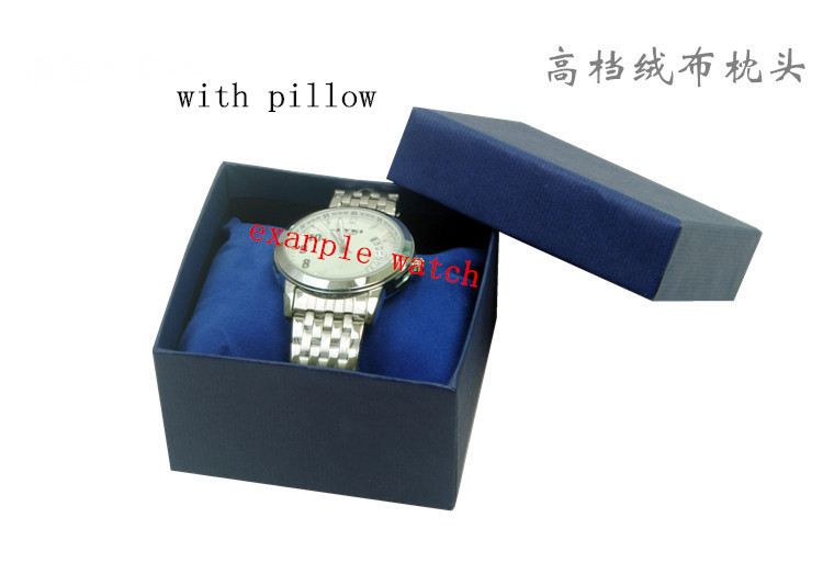 12pcs/lot 5 color black green blue red coffee color paperboard gift watch boxes with pillow may custom logo according quantity<br><br>Aliexpress