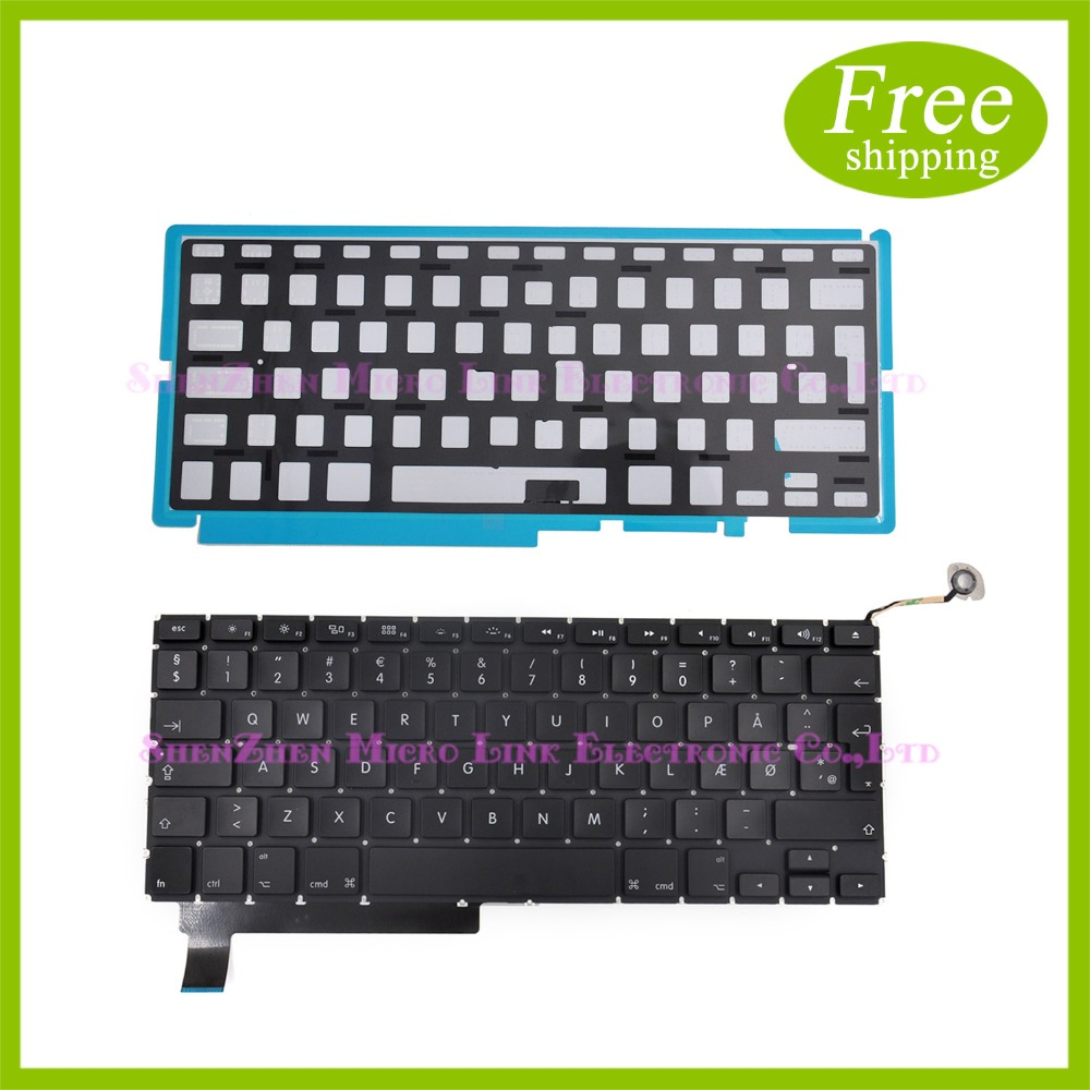 "New Danish Keyboard For MacBook Pro 15"" A1286 Danish Keyboard with Backlight 2009 2010 2011 2012"