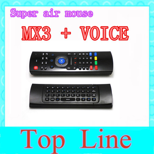 2.4GHz IR Remote Control Air Mouse Wireless Flying Double Keyboard Microphone Voice for XBMC Android Mini PC TV Box free post(China (Mainland))