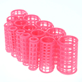 15pcs set Pink Plastic Large Grip Hairdressing Hair Roll Roller Curlers Salon Home Use DIY Curling
