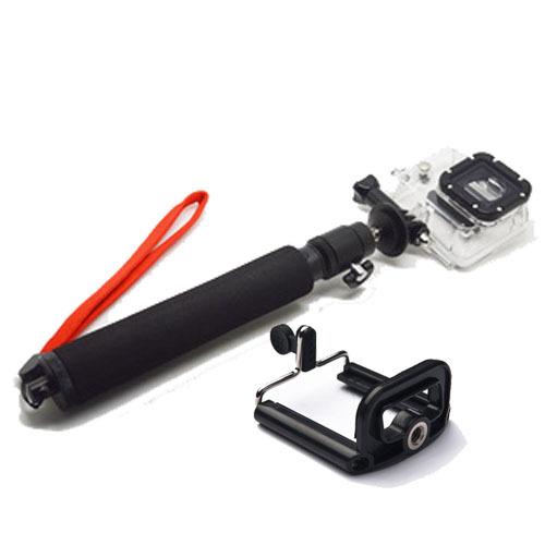 extendable selfie stick remote tripod handheld gopro pole phone clip holder for iphone 5 5s 6. Black Bedroom Furniture Sets. Home Design Ideas