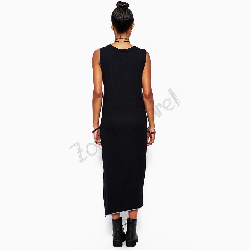 Brand summer women dress 2015 Fashion women long black dress CAT print sleeveless sexy women maxi dress plus size women vestidos